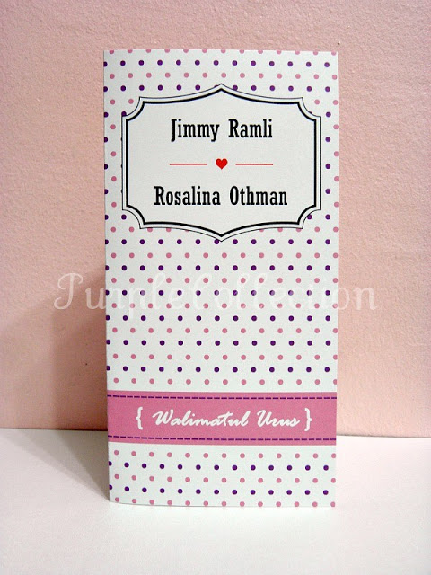 Polka Dots Wedding Invites, malay wedding card, polka dot wedding invites, white linen, laid card, vertical classic fold, wedding invitation, wedding, invitation, polka dots, polka dot card