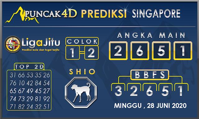 PREDIKSI TOGEL SINGAPORE PUNCAK4D 28 JUNI 2020