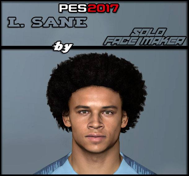 PES 2017 L. Sane face by Solo Gamer Face Maker & Pes Editor