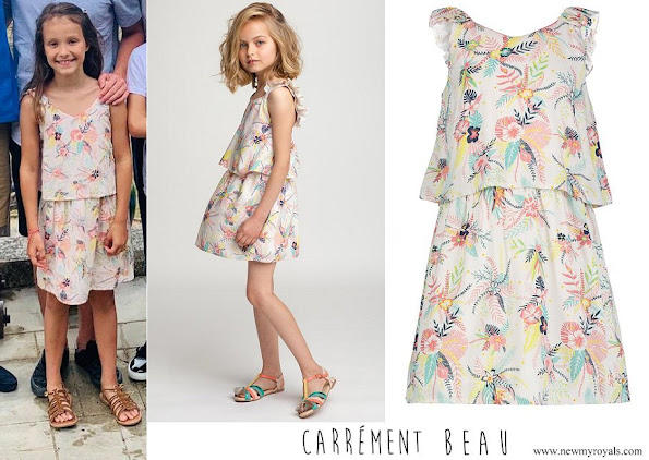 Princess Athena wore Carrement Beau floral print dress
