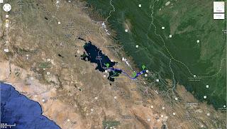 Trajeto detalhado de La Paz/Bolívia a Copacabana/Bolívia - 150 km.