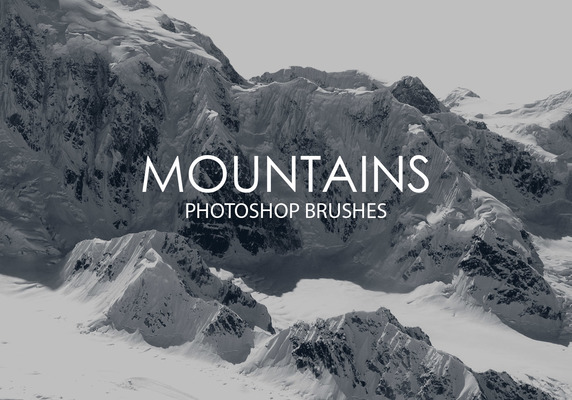 High Quality Premium Free Photoshop Brushes Download : Mountains Freebies
