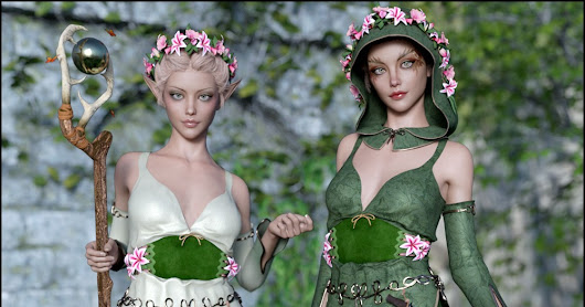 3d Models Art Zone - Woodland Magic Solstice Textures