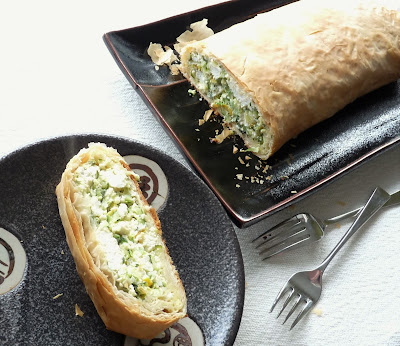 Zucchini & Ricotta Phyllo Roll