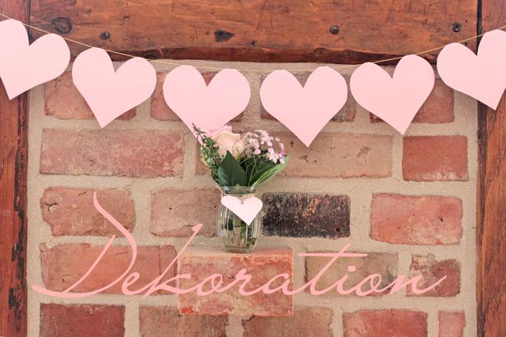Rosarote hochzeit die dekoration amalie loves denmark for Haus dekorieren hochzeit