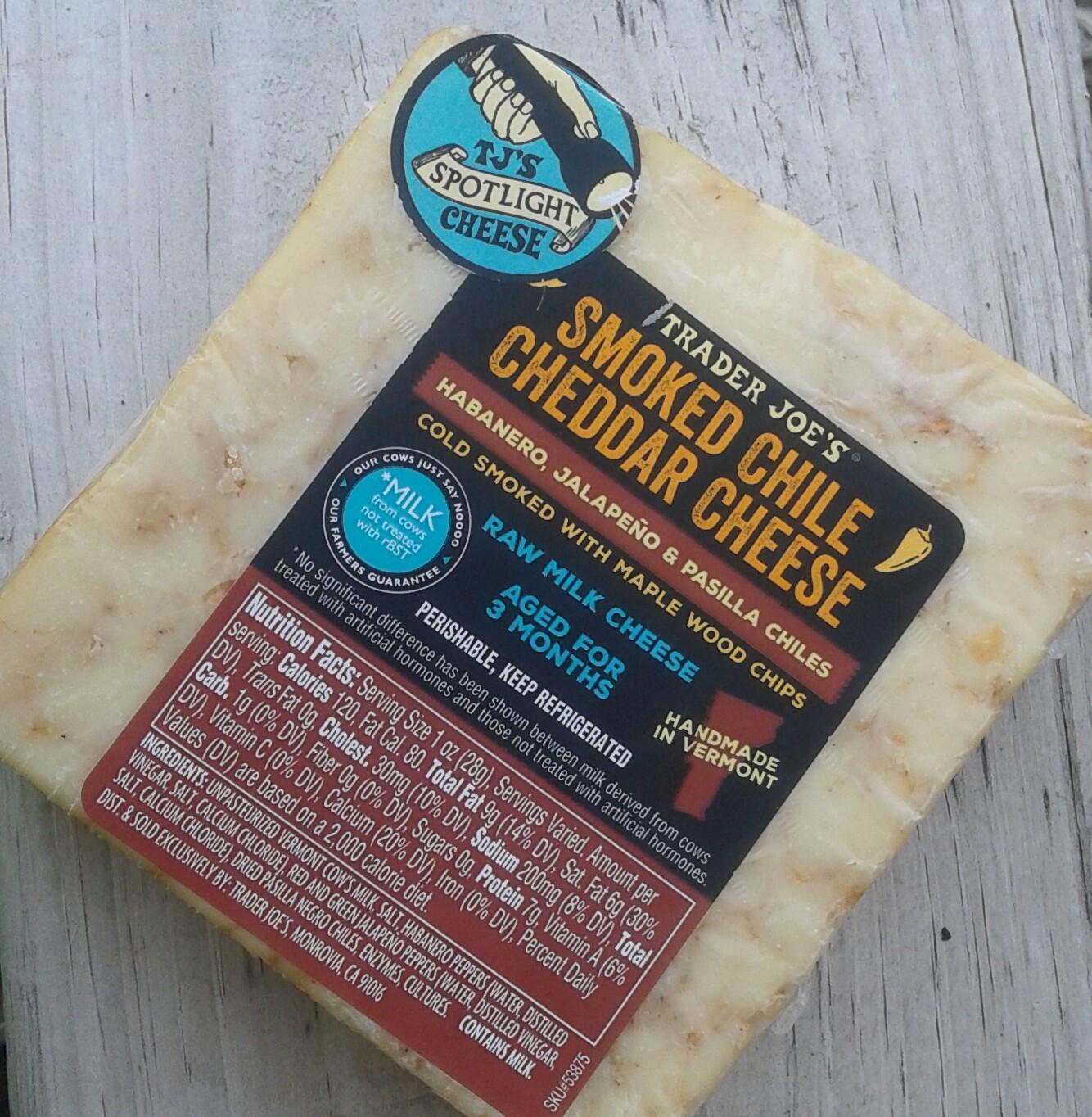 Whats Good at Trader Joes Trader Joes Smoked Chile Cheddar Cheese