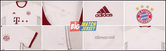 Detail Jersey Baju Bola Bayern Munchen Away 2016-2017 Grade Ori