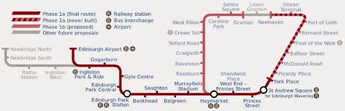 Edinburgh Tramway map