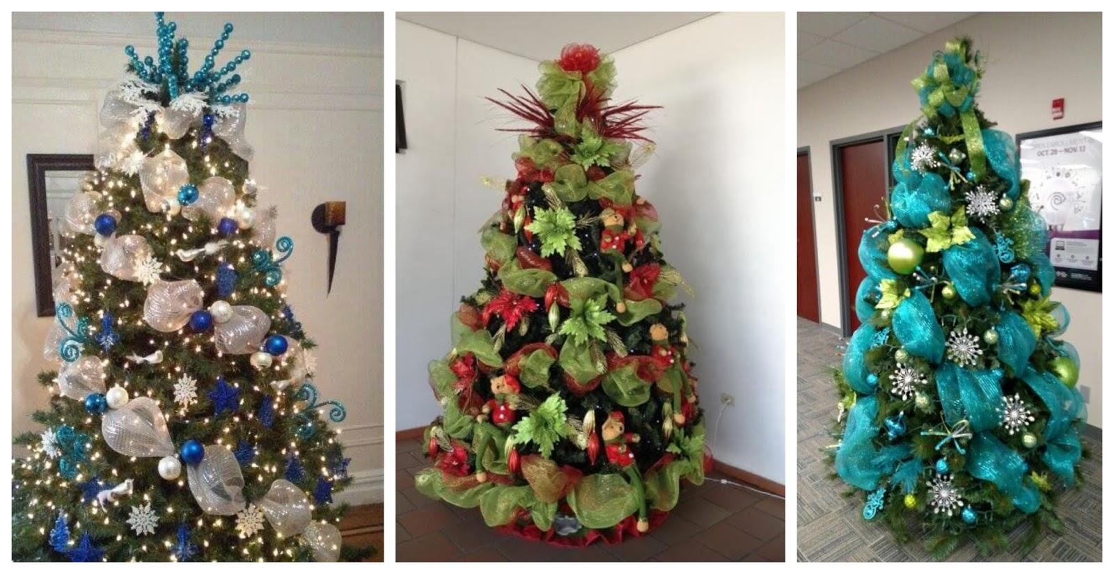 10 ideas y tutorial de c mo decorar un rbol navide o con - Decoracion arboles navidenos ...