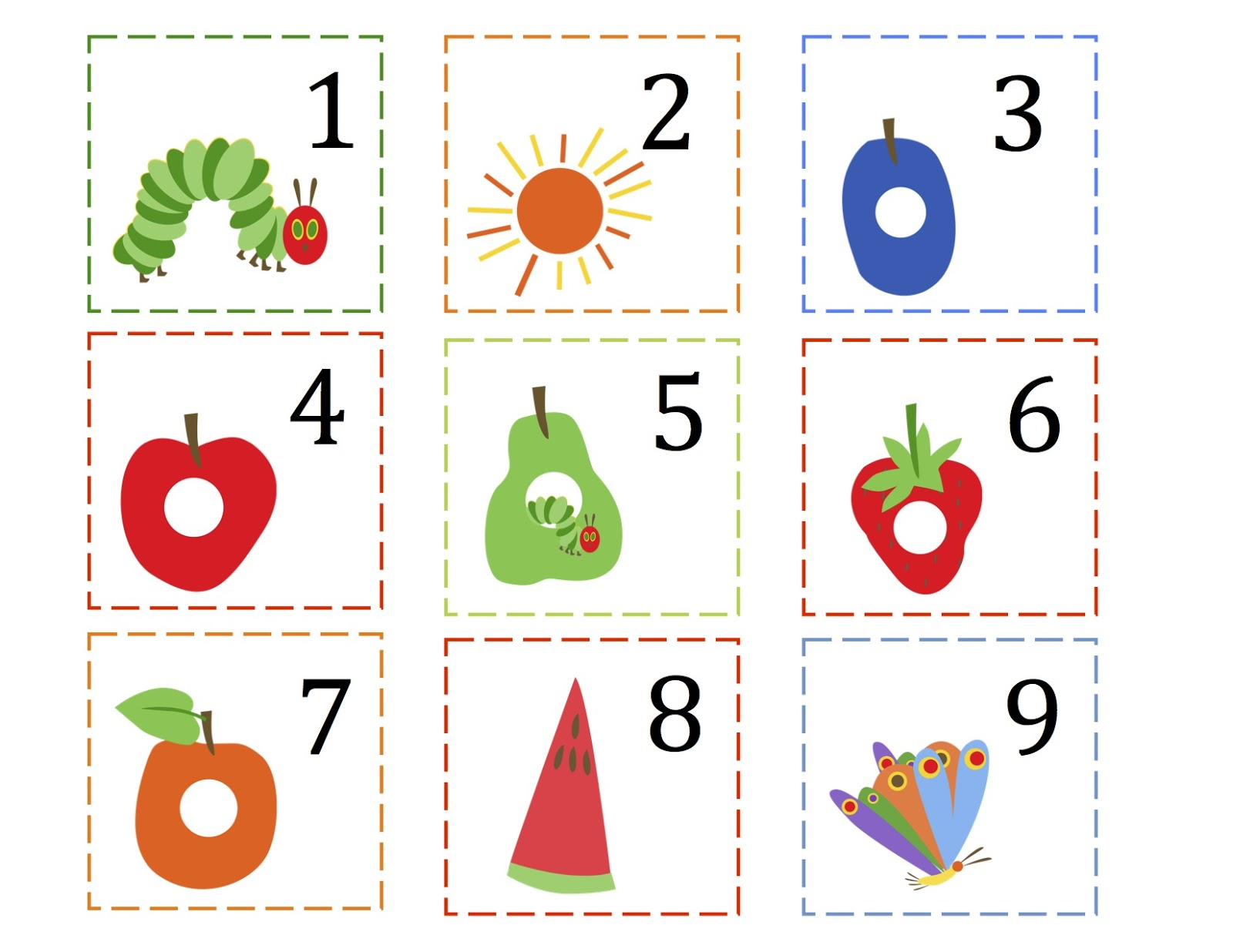 Very Hungry Caterpillar Worksheets For Preschool