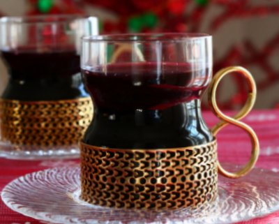 Glöggi, the Mulled Wine ♥ KitchenParade.com, served hot in Nordic countries during winter.