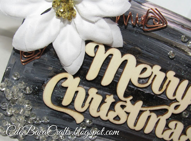 Merry Christmas card by CdeBaca Crafts.
