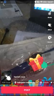 cara upload video di aplikasi vmate android
