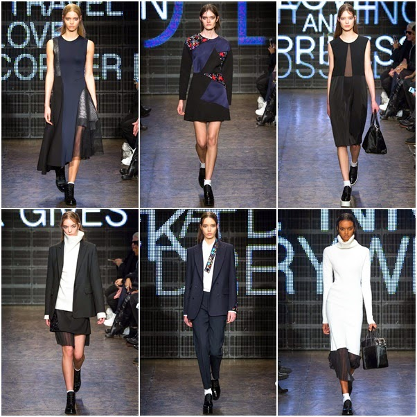 f284625f13 Karan made a lot of patchwork, monochrome dress with crystal embellished  suits. The colorpalette is black, white and navy, ...
