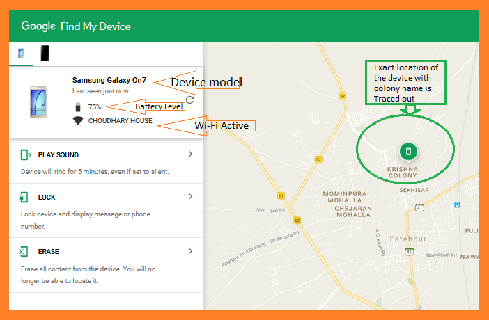Find my Android device with android device manager