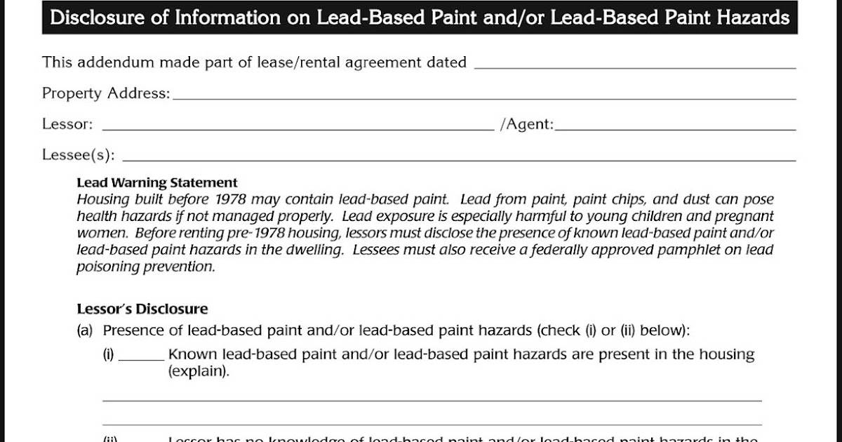 Thurber 39 s thoughts toledo 39 s proposed lead paint rental for Lead based paint inspection