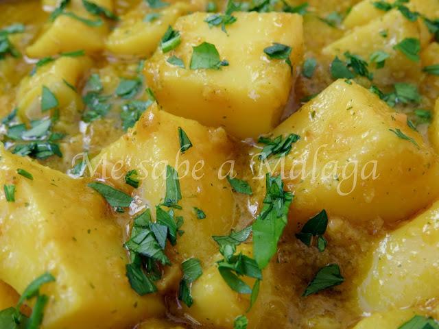 receta de jibia en salsa de almendras Málaga