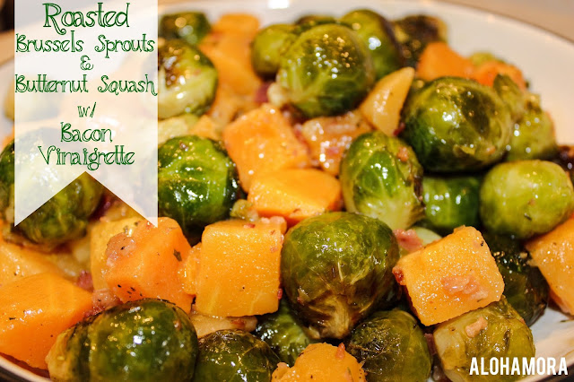 Roasted Brussels Sprouts and Butternut Squash with Bacon Vinaigrette ...
