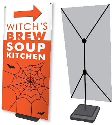 Outdoor Banner Stands for Halloween | Banners.com