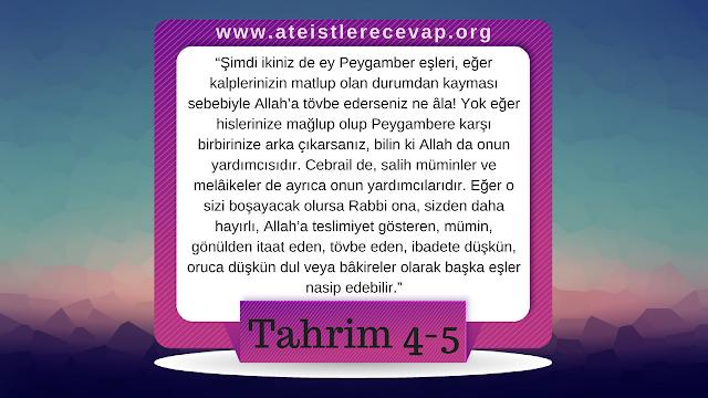 Tahrim suresi 4-5 bu ayeti açıklar mısınız?