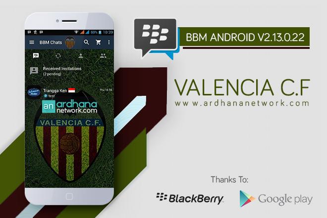 BBM Valencia C.F V2.13.0.26 - BBM MOD Android Tema Sepakbola