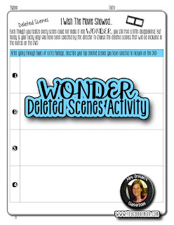 Wonder book and movie deleted scenes activity  www.traceeorman.com