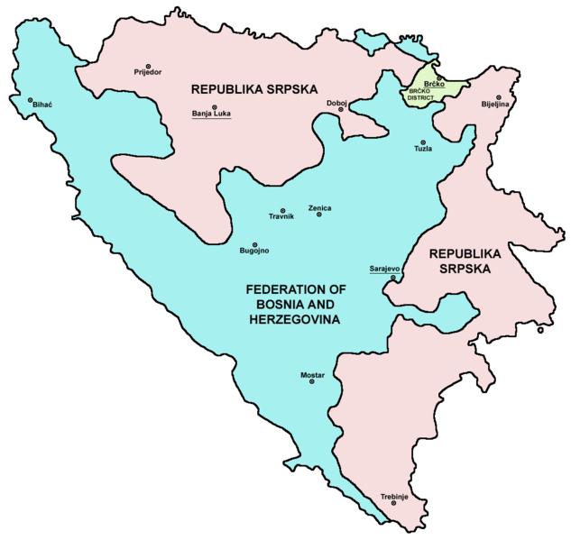 Pembagian wilayah administratif Bosnia dan Herzegovina
