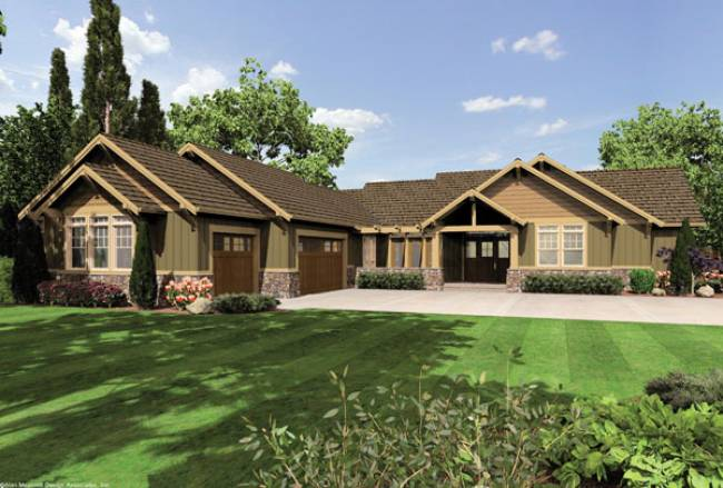 If Neo Eclectic Has A Common Thread It Is The Multiplicity Of Forward Facing Gables Here Seen In Craftsman Style Flavor