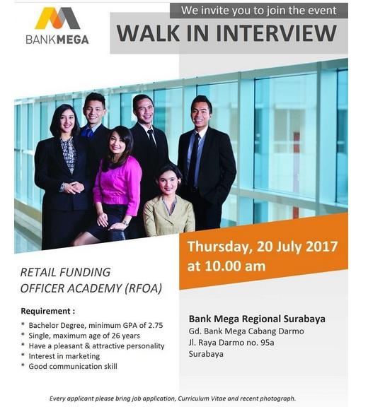 Lowongan Kerja Bank Mega