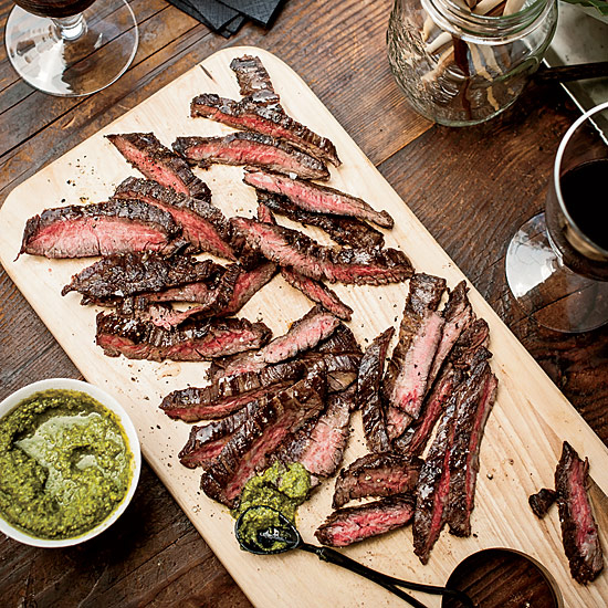 Grilled Skirt Steak with Green Sriracha | FeaturingMatt