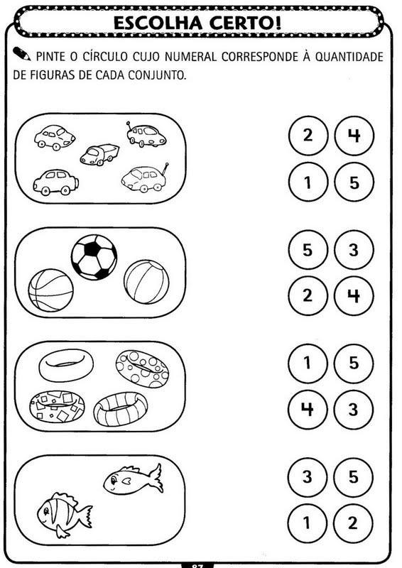 Top Atividades de matemática para Educação Infantil - Atividades  WV97