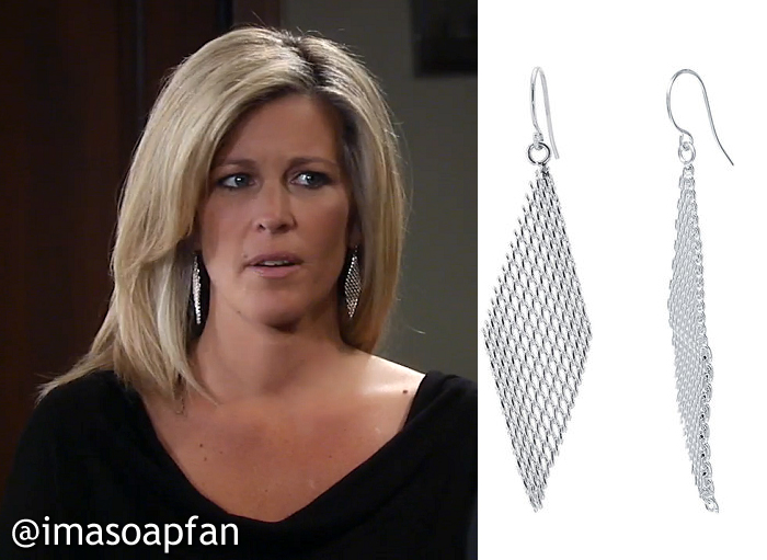 27b353fce There's also a similar pair of mesh wave earrings by Jules Smith that come  in both silver and gold.