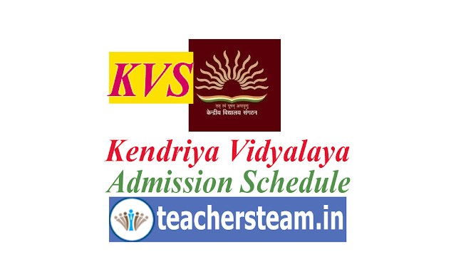 Kendriya Vidyalaya Admissions Schedule for the Academic Session 2019-20