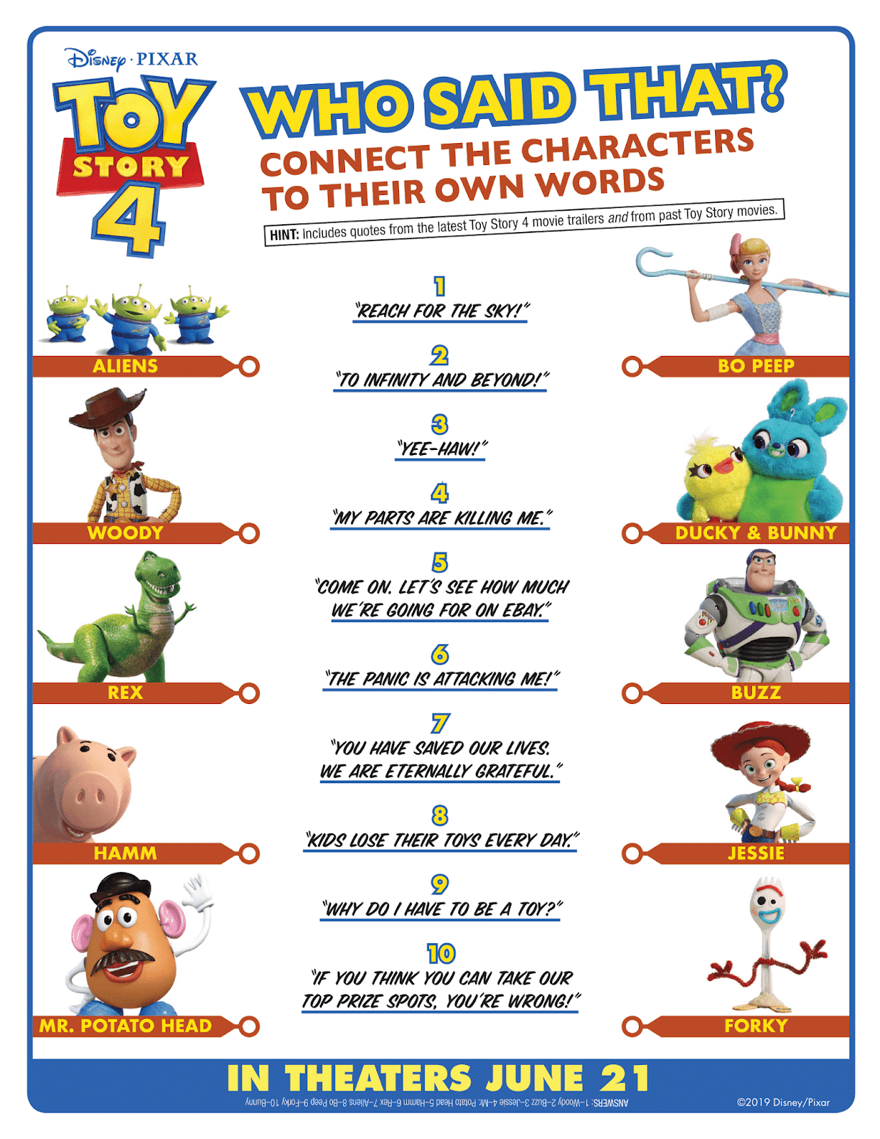 Free Disney Pixar Toy Story 4 Coloring Pages