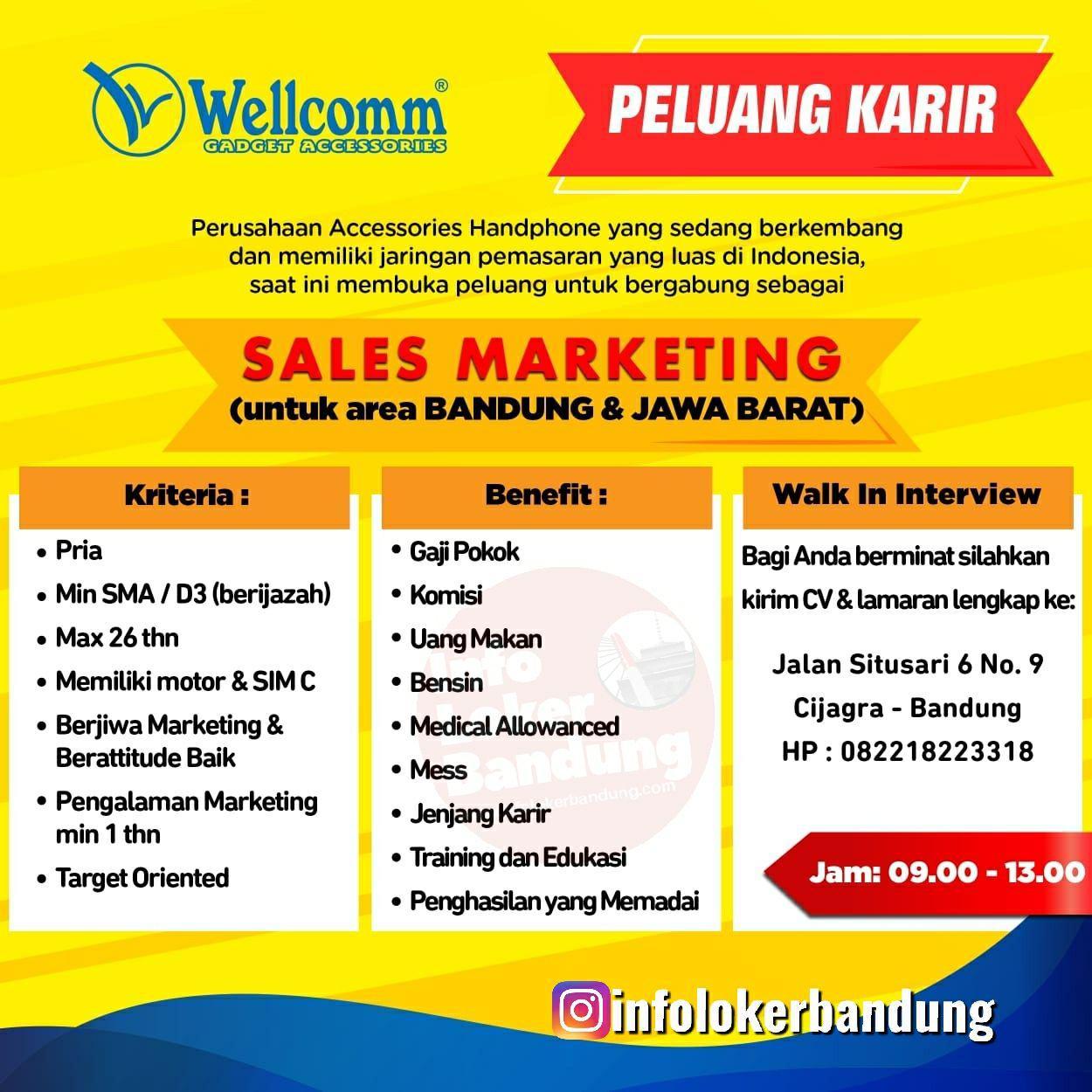 Lowongan Kerja CV.Bandung Indo Pratama ( Wellcomm Gadget Accessories) Mei 2019