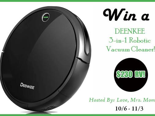 DEENKEE 3-in-1 Robotic Vacuum Cleaner Giveaway! $230 RV!