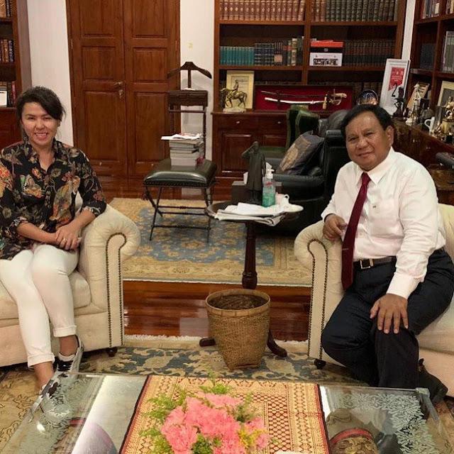 Adik Ahok, Fifi Lety Indra Bertemu Prabowo, Ada Apa Ya?