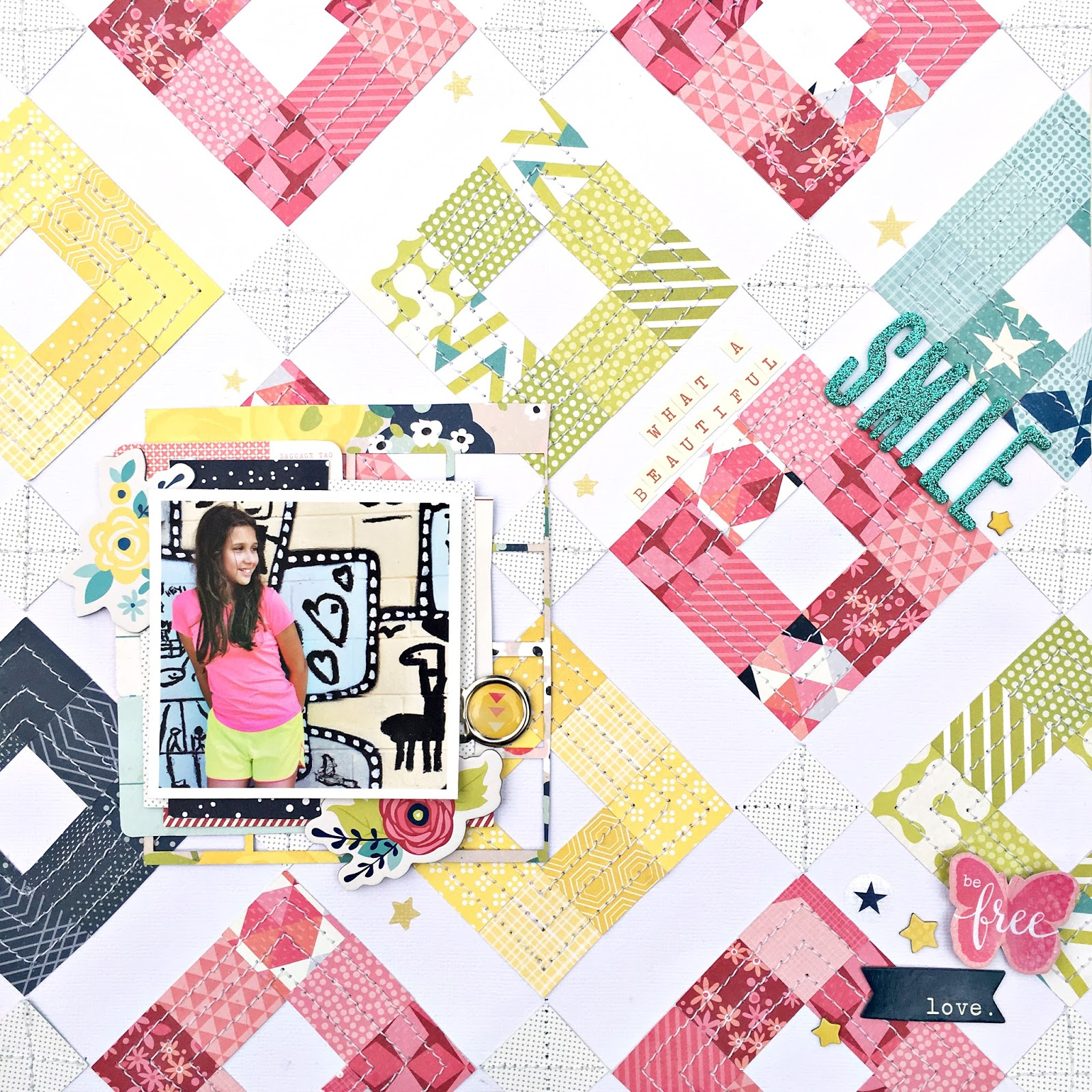 Heather Leopard: Beautiful Smile Scrapbooking Layout And