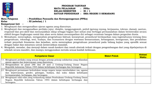 RPP PKN Kurikulum 2013 Kelas XI Revisi 2016