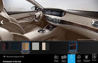 Nội thất Mercedes Maybach S450 4MATIC 2019 màu Vàng Silk / Nâu Espresso 505