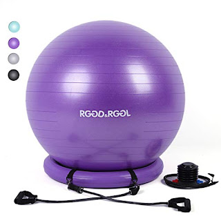 yoga ball chair exercises gaming chairs pc rggd rggl exercise balance 65cm with inflatable stability ring 2 resistant bands and pump for core strength endurance 2019