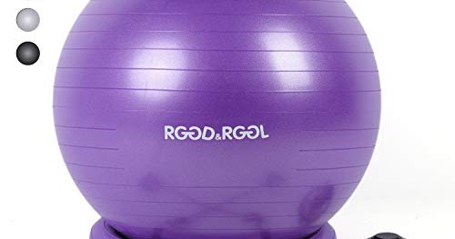 RGGD&RGGL Yoga Ball Chair, Exercise Balance Ball Chair 65cm with Inflatable  Stability Ring, 2