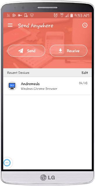 Send Anywhere app