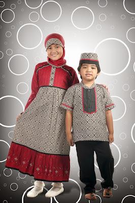 model gamis batik anak