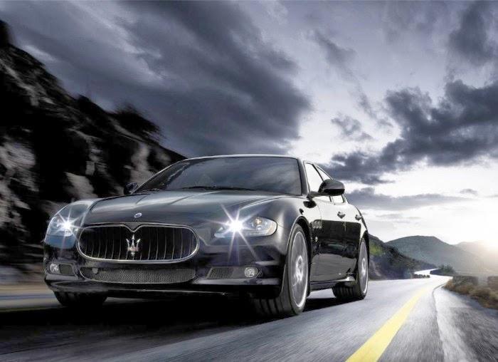 Maserati Quattroporte Front Side View Hd Wallpaper Sport Car Pictures