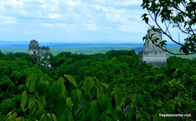 Vista do Topo do Templo IV em Tikal, Guatemala