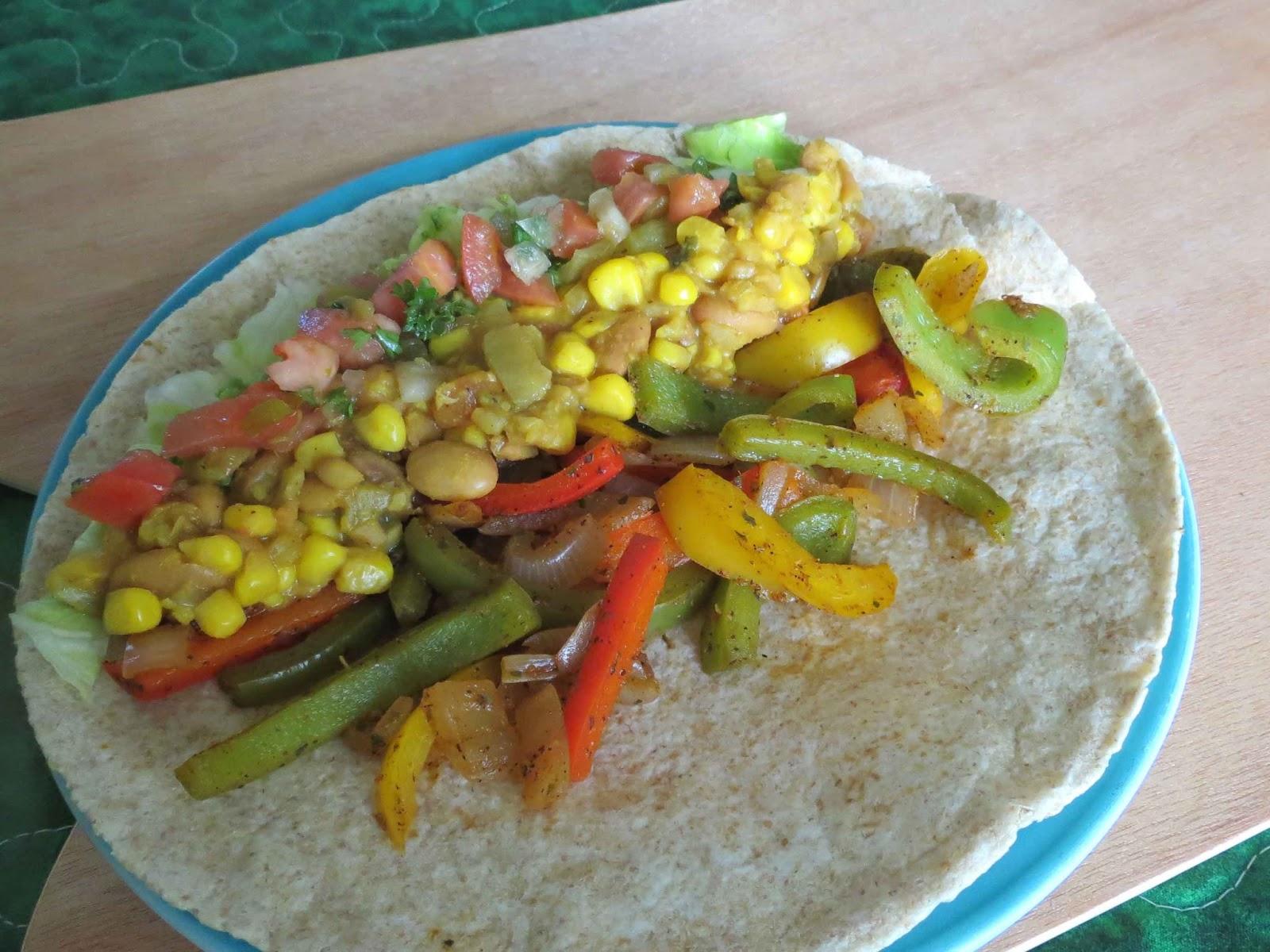 vegan  fajita burrito