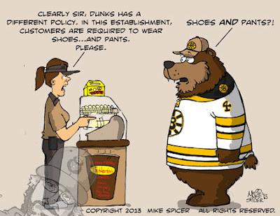 bruins cartoons hockey  coffee