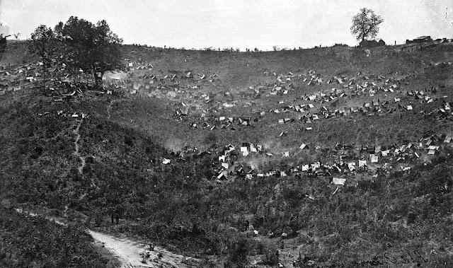 Rebel prisoners waiting at Belle Plain, Virginia, for transportation.