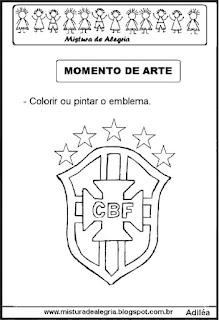 Emblema da seleção brasileira colorir